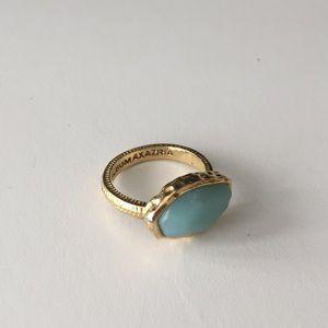 BCBG blue costume ring